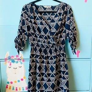 Old Navy Wrap Dress, Navy, Size Small